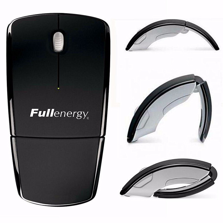 Fast Delivery Promotioinal Custom Logo Wireless Folding ARC Mouse