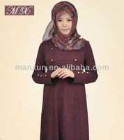 2014 Fashion Full Sleeve Muslim Abaya Islamic Abaya and Hijab