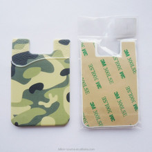 Full colour silicon phone pouch card holder smart wallet