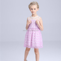 Purple chiffon name brand kids clothing wholesale from turkey