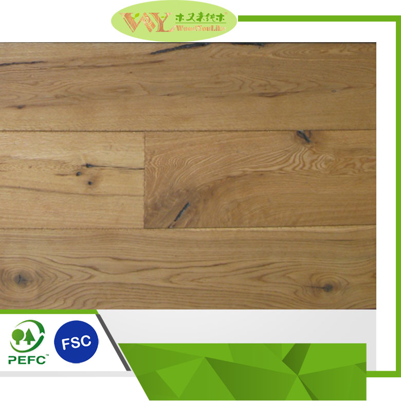 Natural <strong>oak</strong> timber oiled herringbone chevron engineered wood flooring