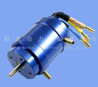 brushless water-cooling dc motor for electric car
