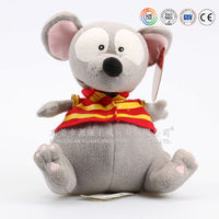 funny animal cartoon sitting mouse with big eyes for baby toys