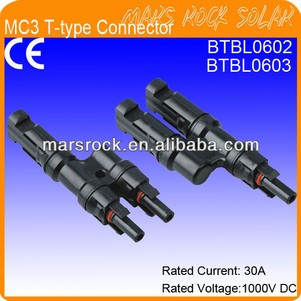 IP65 Waterproof MC4 T-Type Compatible Solar Connectors (male+female)
