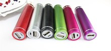 Aluminum mini lipstick power bank 2600mah for any smart phone with various color