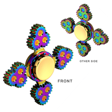 2017 Hot sale colorful rainbow Fidget Spinner Relieve Stress Toys hand fidget spinner, Fingertip Gyro for EDC