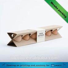 Unique creative design 6 pack corrugated eggs carton