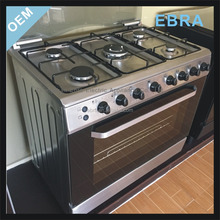 4 Burners and 2 electric hotplates stainless steel gas cooking range