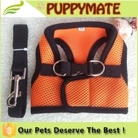 China factory stocked pet products air mesh dog harness and leash set/ dog body harness