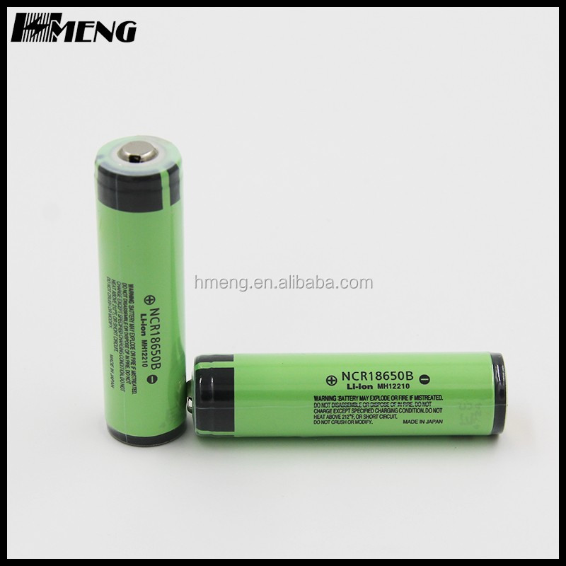 High capacity 3400mah NCR18650B lithium ion battery 18650 3.6V battery cell 18650 battery for e cig