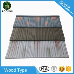 High quality Wood types of roofing tiles,sand coated metal roofing tiles made in China