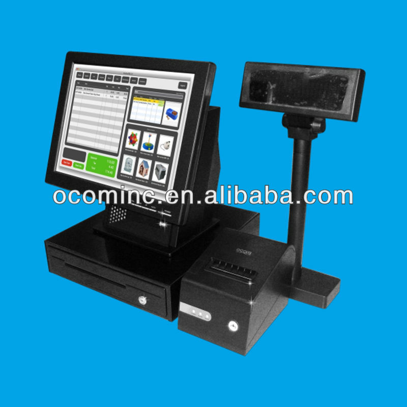 "POS8820S --- 15"" Whole Set Touch Screen POS Terminal With Peripherals"