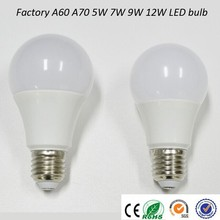 Factory competitive ce e27 b22 7w 600lm led bulb