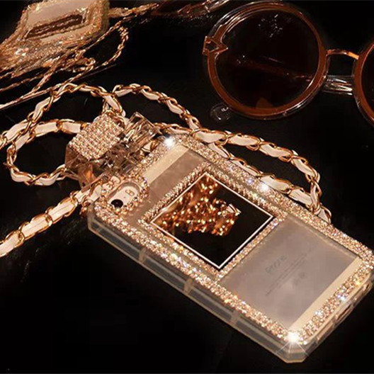 Fashion Design Bling Glanzende Reflecterende Luxe Ketting Telefoon Case - ANKUX Tech Co., Ltd