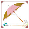 "23"" bi-color fabric wooden rain umbrella"
