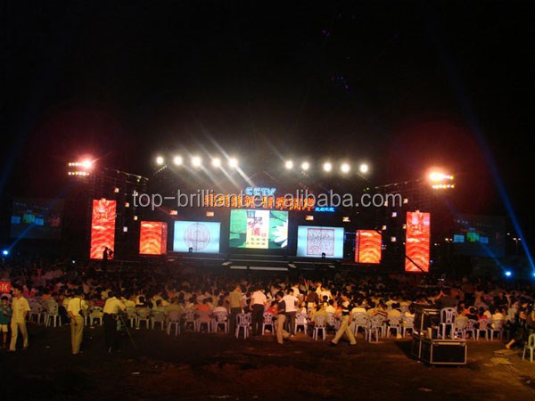 P3.91,P4.81 LED Panel Display Professional Audio Visual Equipment For Indoor Rental