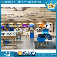 Latest customized best price mobile phone store furniture decor