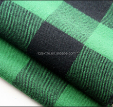 100 cotton flannel shirt fabric Big check design for german market