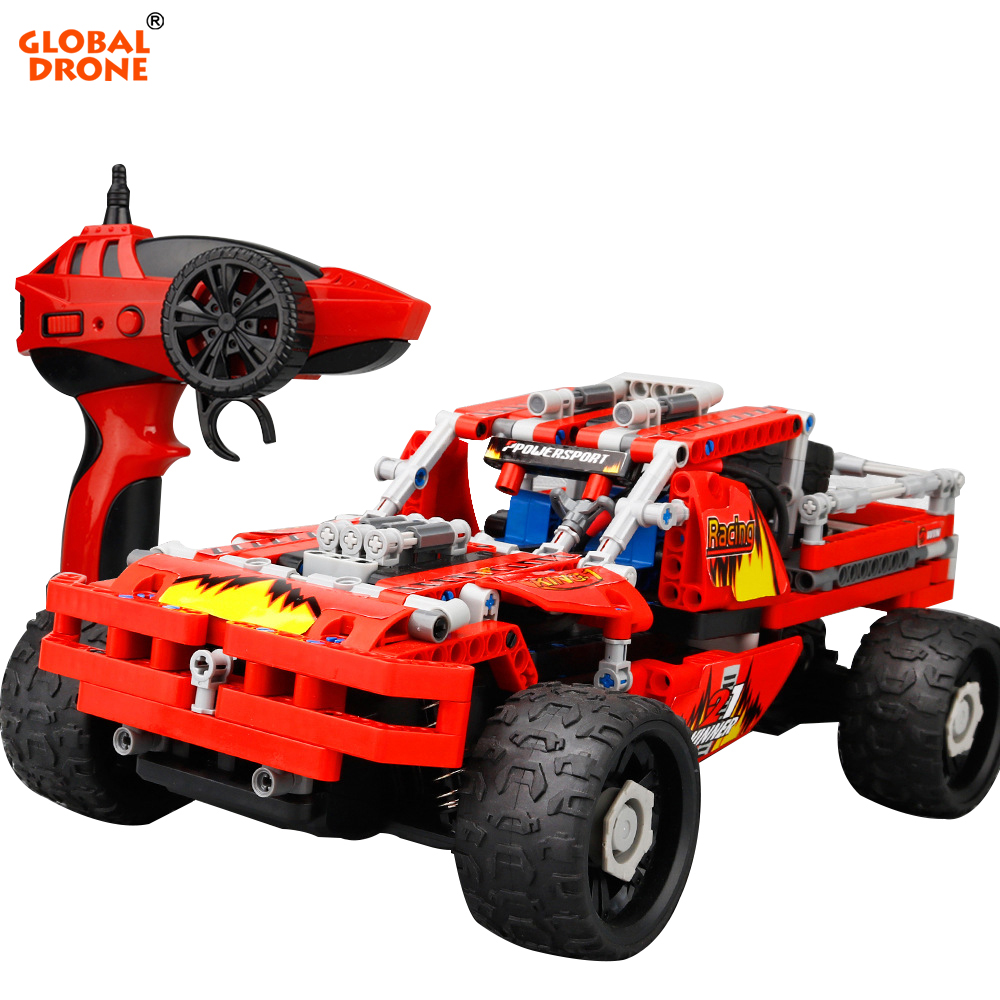 High Speed RC Cars SDL 2017A-6 Building Blocks 2.4GHz 4CH <strong>Remote</strong> <strong>Control</strong> 20km/h Toy Vehicle Cross Country Car 431PCS DIY Cars