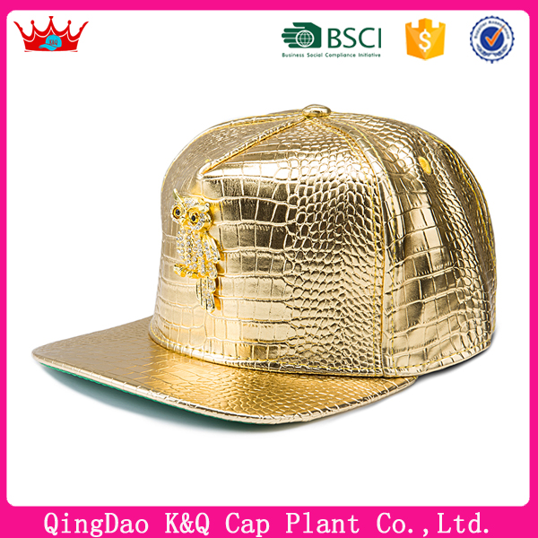 2017 Ball Caps Gold WEED Gold Leather Snapback Caps