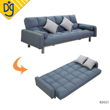 Wholesale microfiber fabric fold down sleeper click clack sofa bed