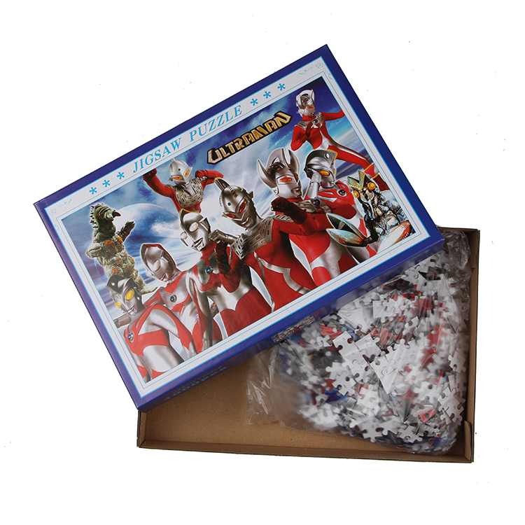 1000 pieces OEM quality colorful picture printing eco-friendly paper fun adult puzzle game