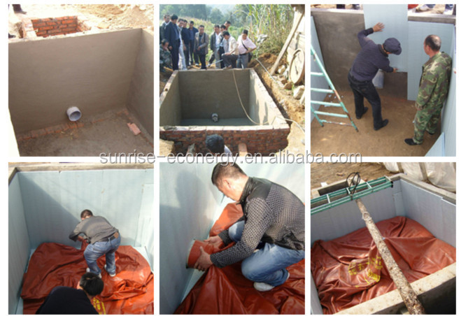 cow farm accessories red-mud membrane silent biogas generatting set for small size biogas digester