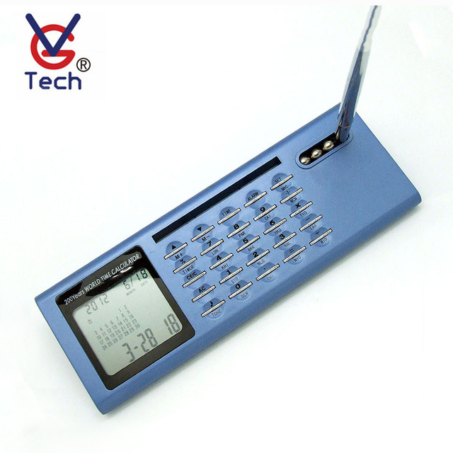 Digital LCD Clock With Calculator with Pen Holder