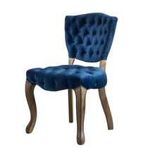 Wholesale Modern French Design Wooden Chaise Velvet Antique <strong>Furniture</strong> Upholstered Dining Chair
