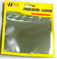 High grade plastic packing bag for soft lure 11cm*13cm Plastic Poly Ziplock Bags for Soft Fishing Lures Packaging