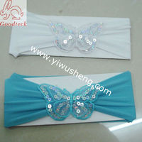 nylon baby headband with sequin small butterfly