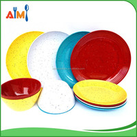 FDA LFGB Standard Fleck 100% plastic melamine dinnerware