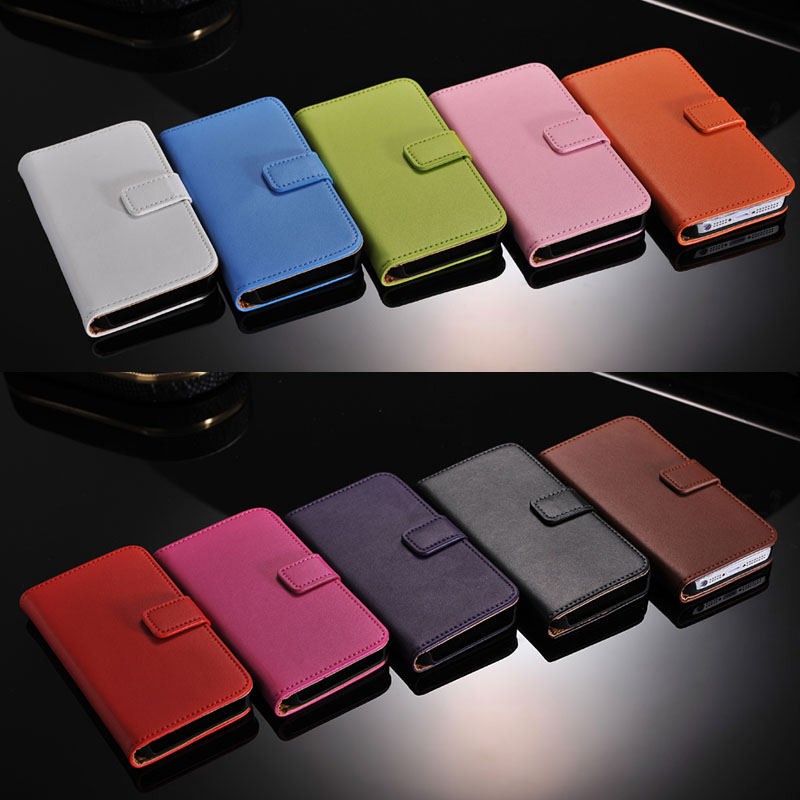 Factory Directly Selling Wallet Flip Style Luxury PU Leather Cover Book Case With Card Holders For iPhone 5 6 6S 7 Plus