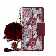 Sunflower Fancy Women Leather Card Slot Cover Case For Huawei P10 Beauty Handbags Cell Phone Case