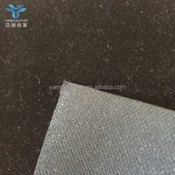 pu flocking leather for shoe