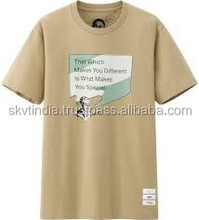 cheap price high end t shirts cotton made in india