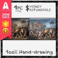Handmade high quality war oil painting all art