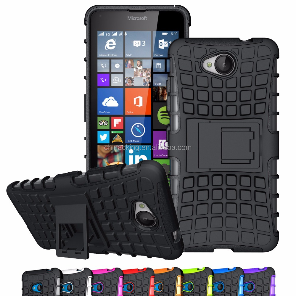 For Microsoft Nokia Lumia 520 620 640 650 720 730 735 640XL 950XL Case Hybrid TPU+PC Hard Armor Shockproof Stand Cover Cases