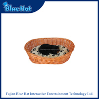 wholesale high quality craft natural rattan pet dog bed