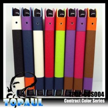 Top quality universal iphone5 wallet style assorted color leather case with camera hole