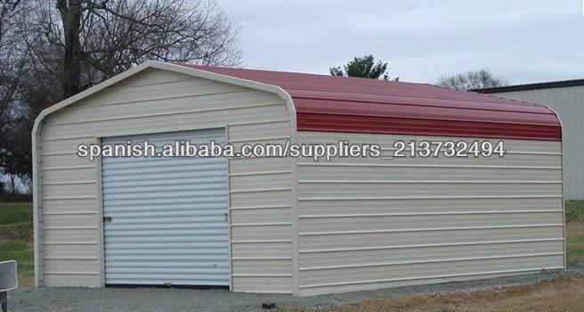 Garajes y cobertizos met licos imagen casas prefabricadas for Cobertizos metalicos