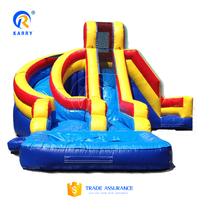 High quality rainbow pool slide, commercial water slide, colorful inflatable slide for sale