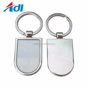 High quality custom personalized zinc alloy blank kids keychain with hook