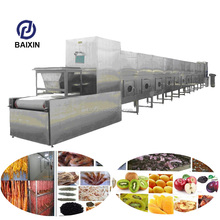Beef jerky Microwave vacuum Drying Machine/Rosebud Microwave Vacuum Dryer/conveyor mesh belt dryer