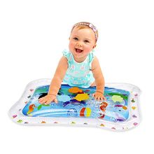 A Pat and Play Baby Fun Activity Center Inflatable Tummy Time Water Mat Baby Water Mat With Colorful Floating Sea Friends