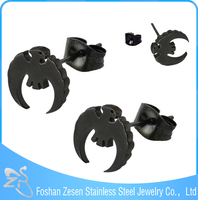 ZS20254 surgical steel unique shape charm stud earrings fly cute bird earrings