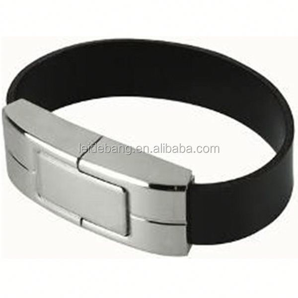 leather bracelet usb flash drive made in china for gift