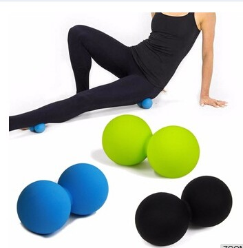 Body Building Silicone Custom Lacrosse Peanut Balls Yoga Massage Gym Bouncing Ball