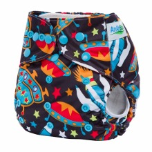Ananbaby Reusable Double Gussets Diaper Waterproof Baby Diaper Cover