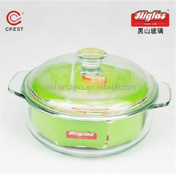 Zibo Shandong top quality borosilicate glassware manufacturer cheap glass thermos casserole
